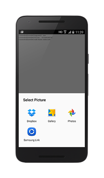 Android application picker