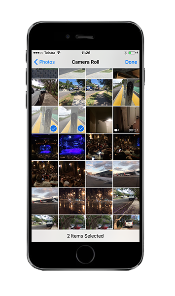 iOS 8+ Gallery Selection